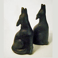 Coyote Bookends