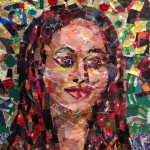 Paper Mosaic Bling at Barnsdall Arts