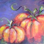 Painting Pumpkins at Paint & Pinot Party–SugarMynt Gallery
